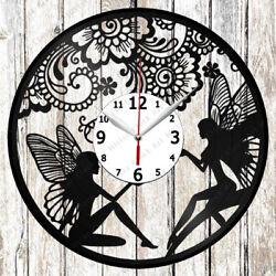 Fairy Vinyl Wall Clock Made Of Vinyl Record Original gift 2019