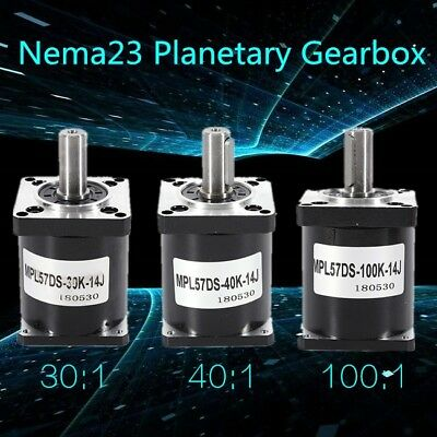 Planetary Speed Reducer Gearbox 301 401 1001 Nema 23 Stepper Motor 4 Screws