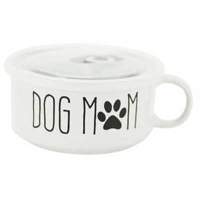 Boston Warehouse 22 Oz Souper Bowl Soup Mug with Lid, Dog Mom