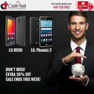 Don't Miss! Extra 30% Off Sale- New LG Phones Ends This Week!