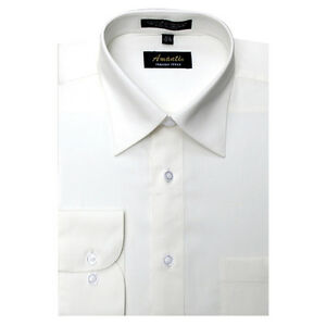 new amanti mens solid off white ivory wedding dress shirt
