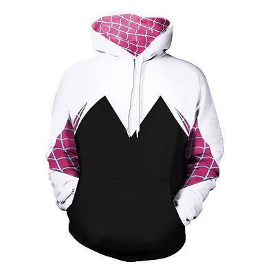 Spider Gwen Stacy Juniors costume Hoodie Women Long sleeve Sweatshirt Cosplay