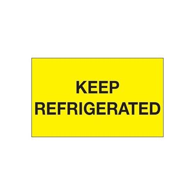 Thorntons Climate Labels Keep Refrigerated 3 X 5 Yellow 500