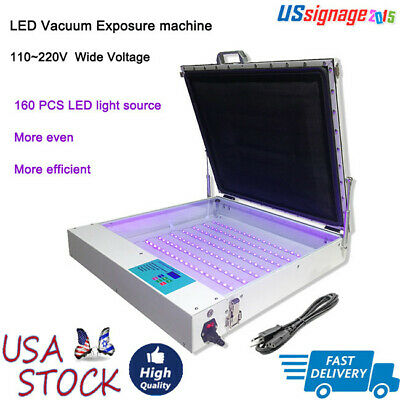 Us Tabletop Precise 20x24 80w Vacuum Led Uv Exposure Unit For Screen Printing