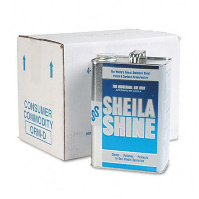 Sheila Shine 4CT Stainless Steel Cleaner And Polish 1 gal. Can 4/carton
