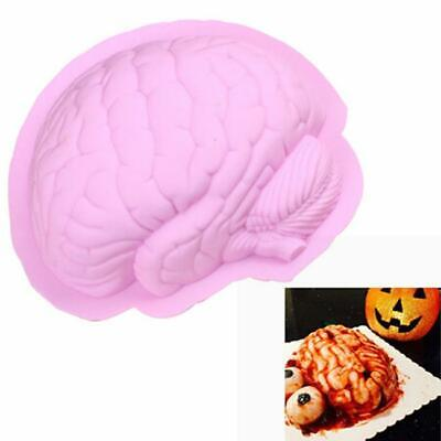 Silicone Large Brain Mold for Chocolate Jelly Cake Pan Halloween Creepy Scary Q