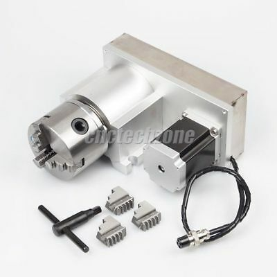 Cnc Router Rotary Indexer Rotational Axis A Axis 4th Axis 18 With 3-jaw Chuck