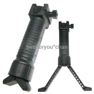 Tactical-Airsoft-Easy-Button-Bipod-Fore-Grip-fit-20mm-RIS-Rail-Black-ac4