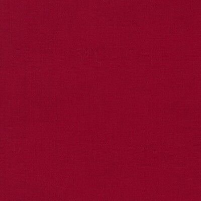 Kona Cotton  Rich Red  By The Yard R  Kaufman Solid Color