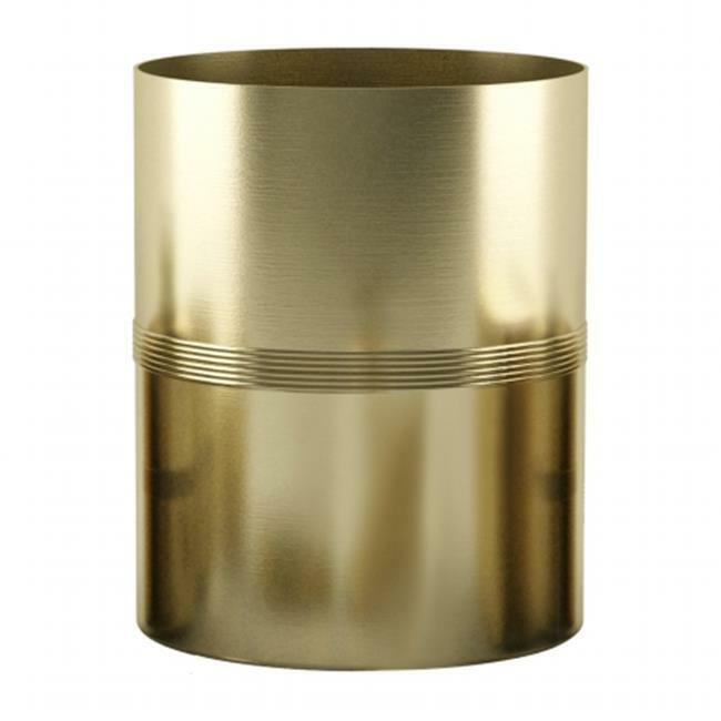 NuSteel JW8H NuSteel Jewel Gold Finish Wastebasket 7.5 Quart