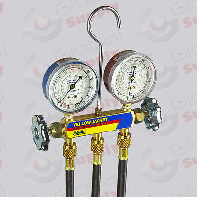 Yellow Jacket 41702 - Series 41 Manifold 2.5 Gauges 60 Hd Hoses R-410a