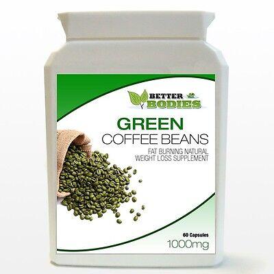 60 Caps Supplement Pills - 60 GREEN COFFEE BEAN EXTRACT CAPS PILL BOTTLE DIET SUPPLEMENT