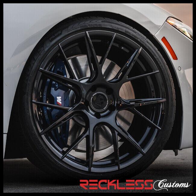 "Blaque Diamond 22"" Bd-f18 Black Concave Wheel Rims Fits Hyundai Santa Fe"