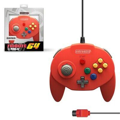 Mando Nintendo 64 Tribute64 rojo Nuevo (tipo Hori Mini pad)