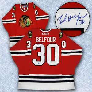 Ed Belfour Chicago Blackhawks Autographed CCM Jersey Kitchener / Waterloo Kitchener Area image 1