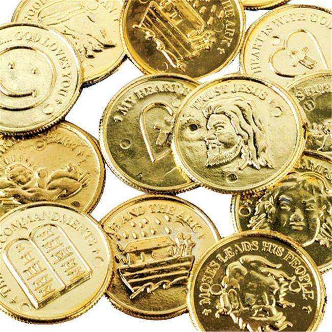 US Toy Company 137 Religious Gold Coins - Pack of 144