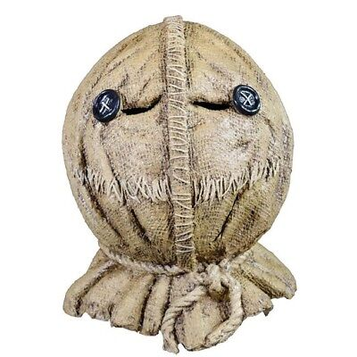 Jack Head Costume (Trick R Treat Sam Burlap Jack-o-Lantern Full Head Halloween Costume)