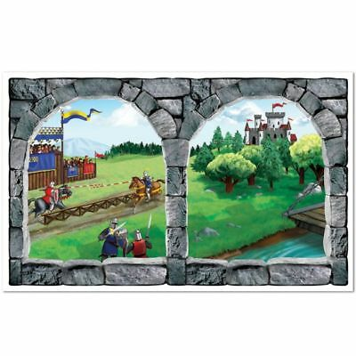 Castle Window Insta Theme Medieval Renaissance Scene Wall Party - Halloween Insta Theme