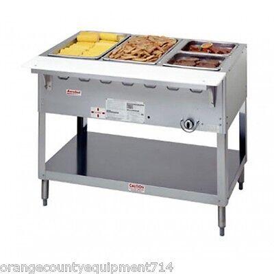 Propane Steam Table - NEW 3 Well LP Propane Steam Table Duke AeroHot WB303-LP Water Bath 5941 Food NSF