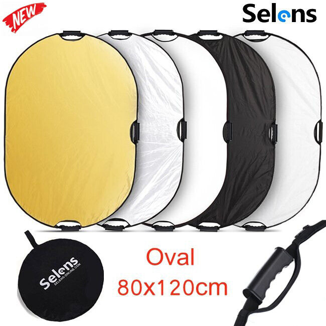 Studio 5 in 1 80x120cm Photography Multi Photo Oval Collapsible Light Reflector