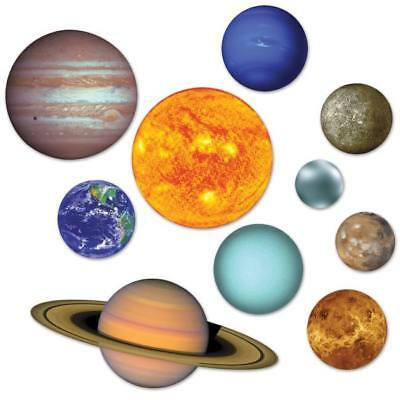 Solar System Space Cutouts 10 Pack Solar System Spaceship Party Decoration