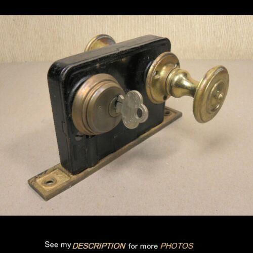 Antique Victorian Corbin Door Lock Set with Key