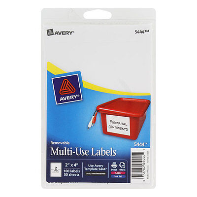 Avery Removable Multi-use Labels 2 X 4 White 100pack