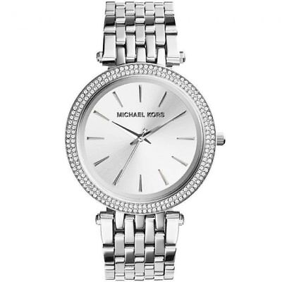BRAND NEW Michael Kors Darci Silver Tone Stainless Steel Womens Watch MK3190