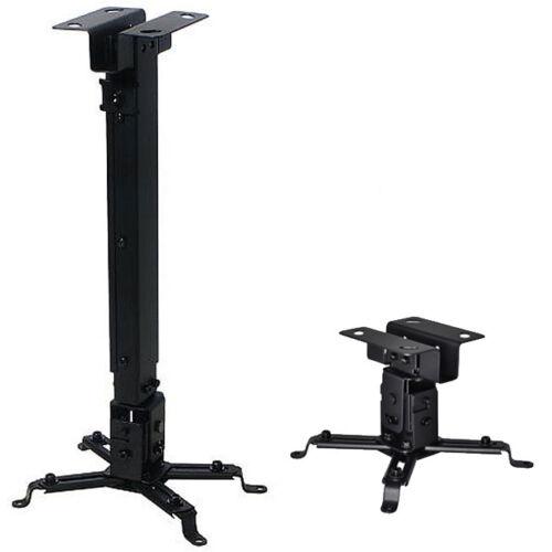 Universal Extendable Tilt DLP LCD Ceiling Projector Mount Bracket 44 lbs - Black