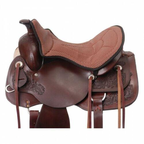 Tough 1 Brown Air Flow Western Seat Cushion horse tack equine 60-8905