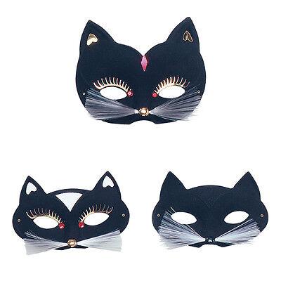 Black Cat Domino Eye Mask Halloween Venitian Fancy Dress Costume Prop - Halloween Cat Eye Masks