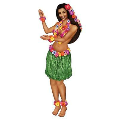Jointed Hula Luau Party Girl Paper Cutout  Jointed Hula Girl