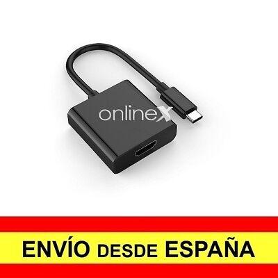 Adaptador Conversor OTG HDMI Hembra a USB 3.1 Tipo C Macho 4k...