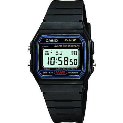 Casio Men's F91W-1 BLACK Digital Resin Strap Alarm Digital Watch RRP £17.50