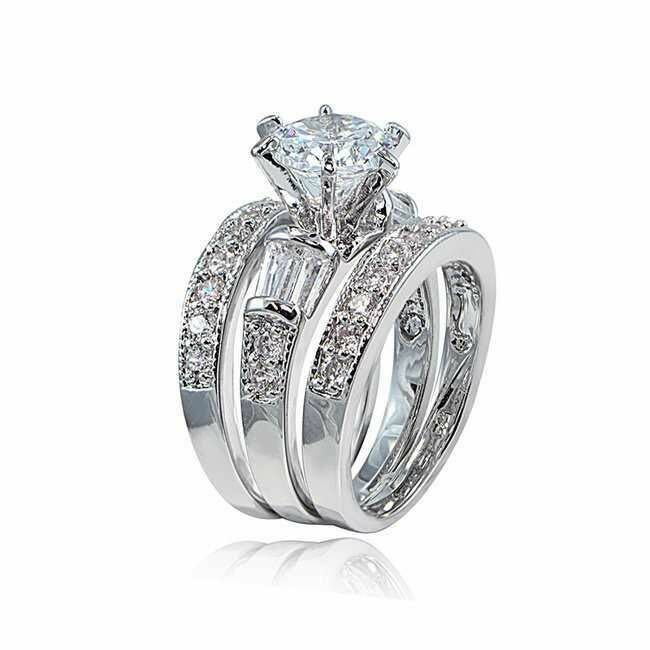 Women's 925 Sterling Silver Wedding Band Princess Bridal Eng