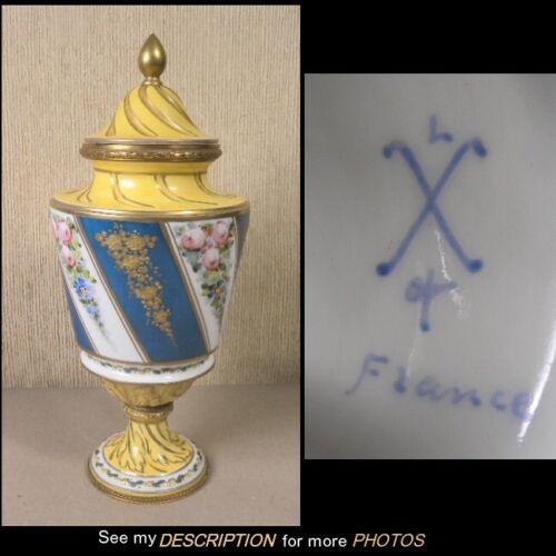Antique Sevres France Porcelain Covered Urn Bronze Ormalu