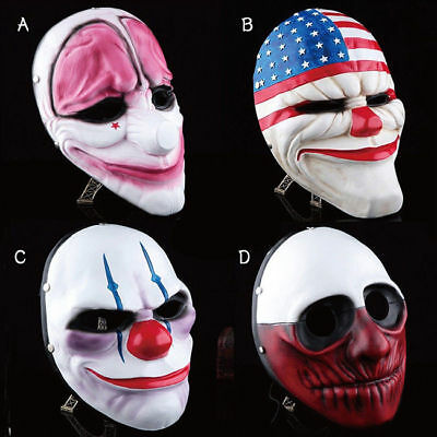 Payday 2 Masks Halloween (US Ship! Game Payday2 Series Theme Cosplay Mask Halloween PVC Jocker Helmet )