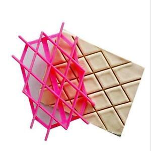 Diamond Pattern Fondant Sugarpaste Cake Decorating Mould Tools Icing Baking L