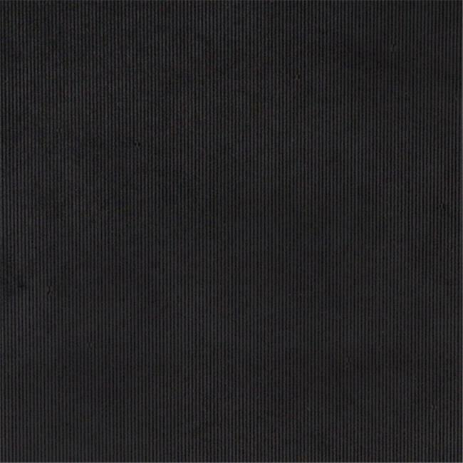 Designer Fabrics C184 54 in. Wide Black Thin Solid Corduroy Striped Upholster...