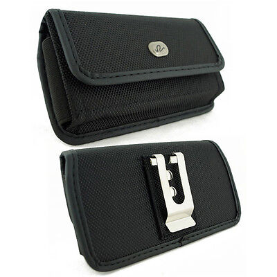 Rugged Canvas Belt Clip Case for Cell Phones fits with Otterbox Defender on it