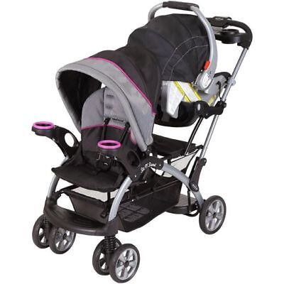 Double Stroller Toddler Seat - Sit And Stand Stroller Infant Toddler Double Travel System Baby Car Seat Mount