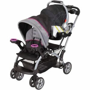 Sit And Stand Stroller Infant Toddler Double Travel System Baby Car Seat Mount