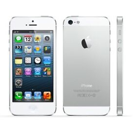 iPhone 5s in silver and white almost new