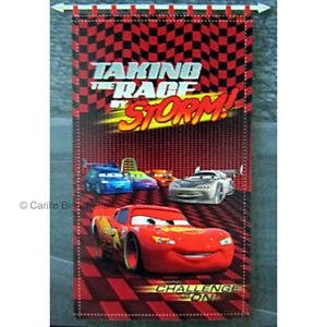 TENDA TENDE PANNELLO ARREDO CAMERETTA Disney CARS 160X290 COTONE E083 ...