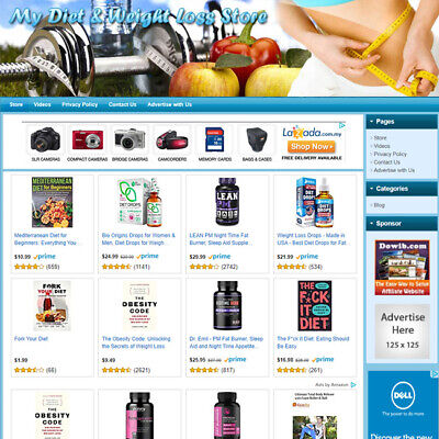 Diet Weight Loss Store - Turnkey Affiliate Online Website Business For Sale