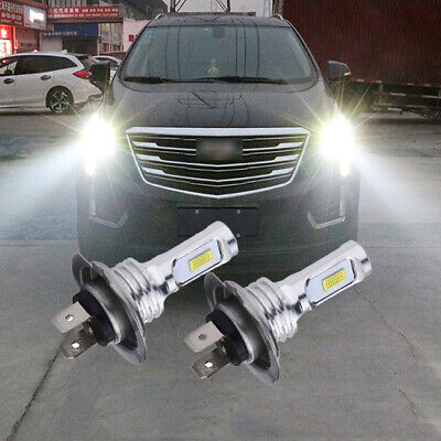 1 Pair H7 6000K White LED Headllight Hi/Low Beam 70W 8000LM 12V