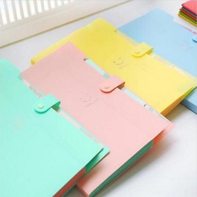 A4 Plastic File Document Bag Pouch Bills Folder Card Holder Organizer Fastener S