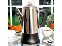 Stainless steel electric coffee percolator