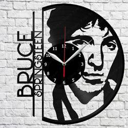 Bruce Springsteen Vinyl Record Wall Clock Art Decor Original Gift 12'' 30cm 2219