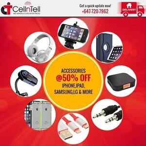 Cell Phone Accessories- iPhone, iPad, Samsung, LG, Tablet & More @50% Off